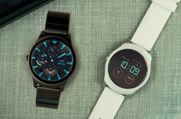 The Ticwatch 2 smartwatch responds to your sweet caress