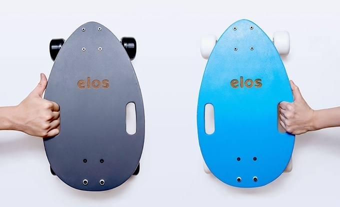 Go and stow quickly with the Elos mini-longboard
