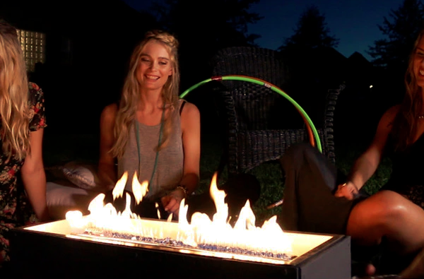 The Sound Reactive Fire Pit dances the night away with you