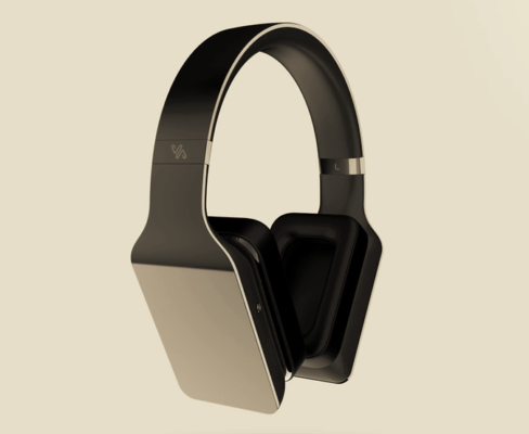 Vinci is a smart headphone with a screen on the side